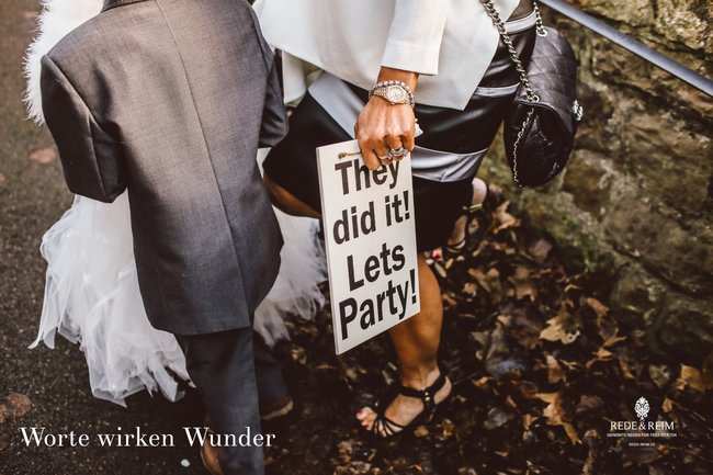 Hochzeitsrede - Worte wirken Wunder